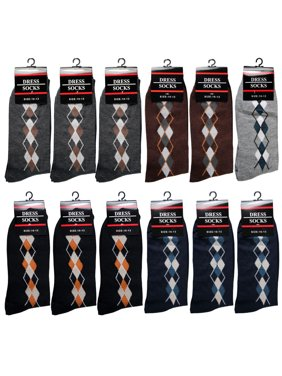 b5a56be2c5b7 Product Image 12 Pairs Men Dress Socks Size 10-13 Argyle