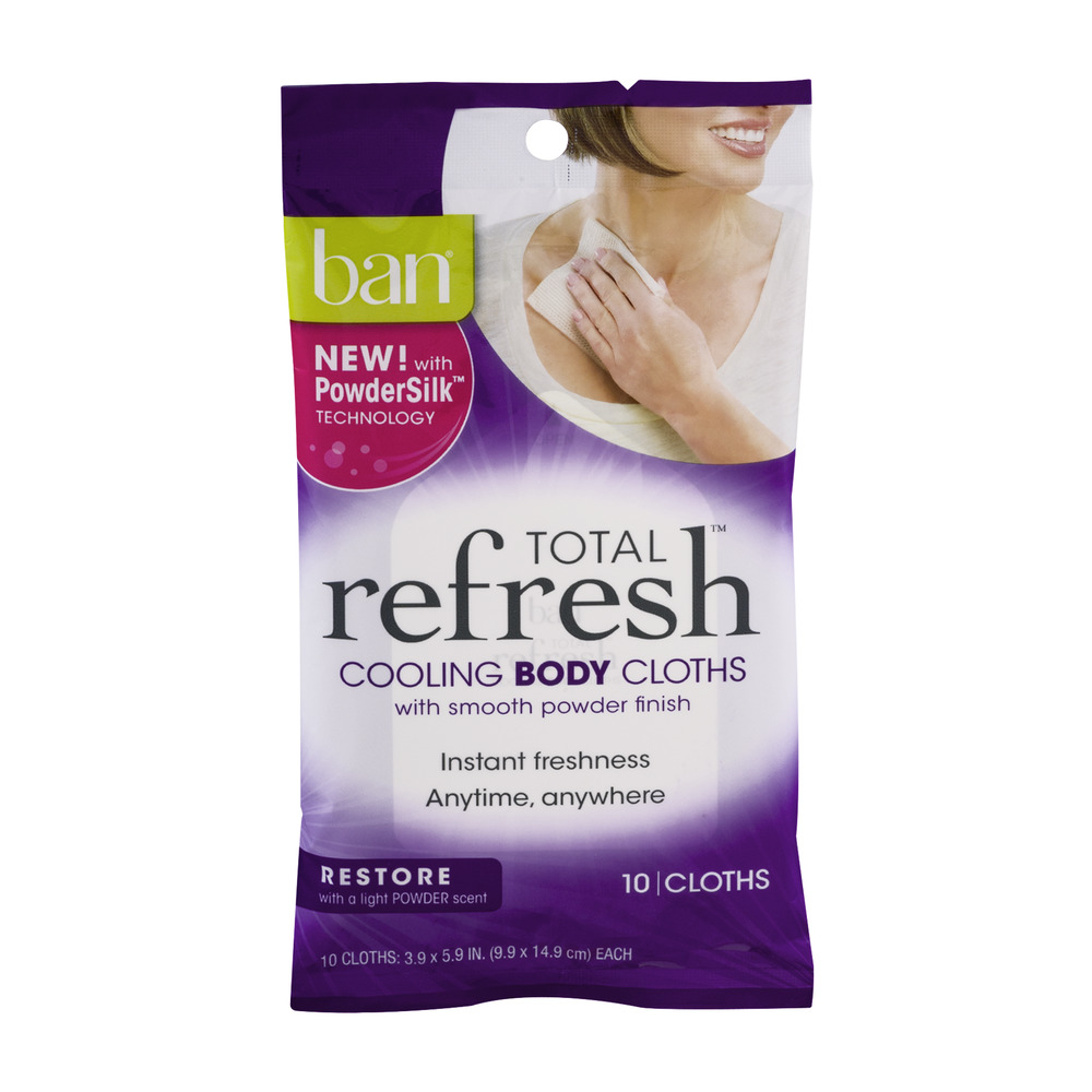 Ban Total Refresh Cooling Body Cloths Restore - 10 CT