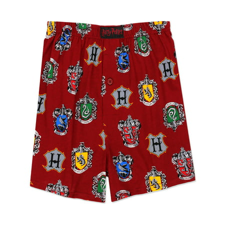 Potters Chest (Harry Potter Hogwarts House Men's Briefly Stated Boxer Shorts Underwear HP099MBX )