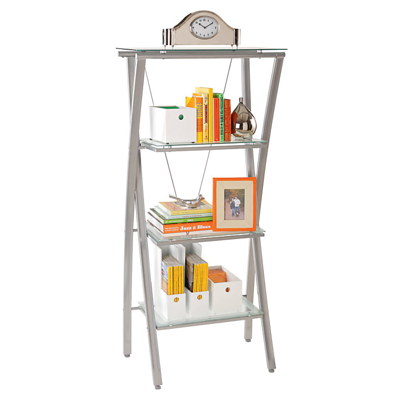 Realspace Zentra Bookcase, Silver/Clear