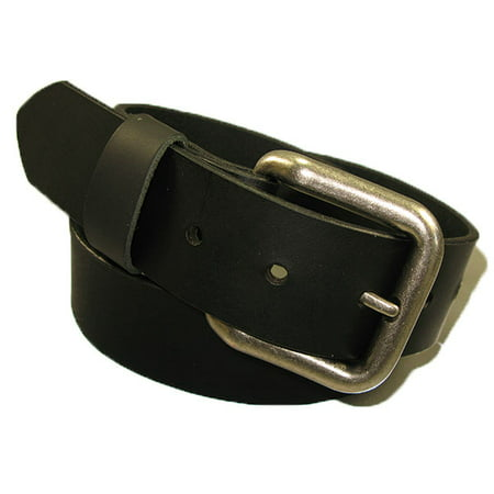 Mens Handmade Genuine Solid Buffalo Leather Belt (1-1/4