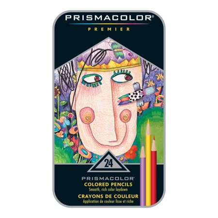 Prismacolor Premier Thick Core Colored Pencil Set, 24-Colors Chubby Colored Pencil Set