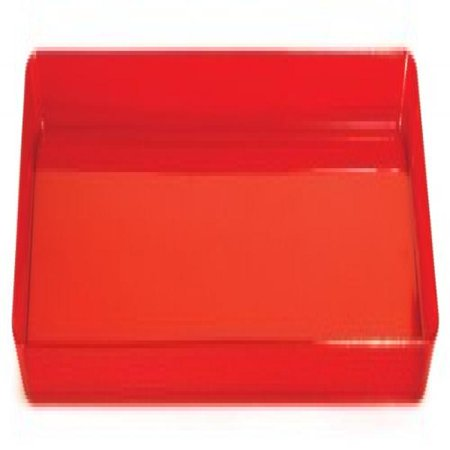 Trendware Translucent Red Serving Tray - Red Twin Tray