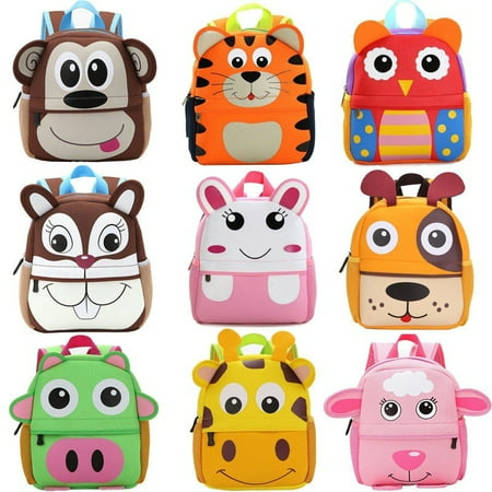 Fashion Kids Children Boys Girls 3D Cartoon Animal Backpack Kindergarten Schoolbag Bag