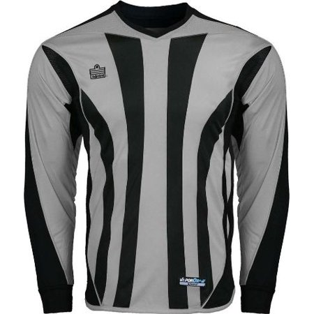 Admiral Bayern YOUTH Padded Elbow Soccer Goalie Jersey, Silver / Black