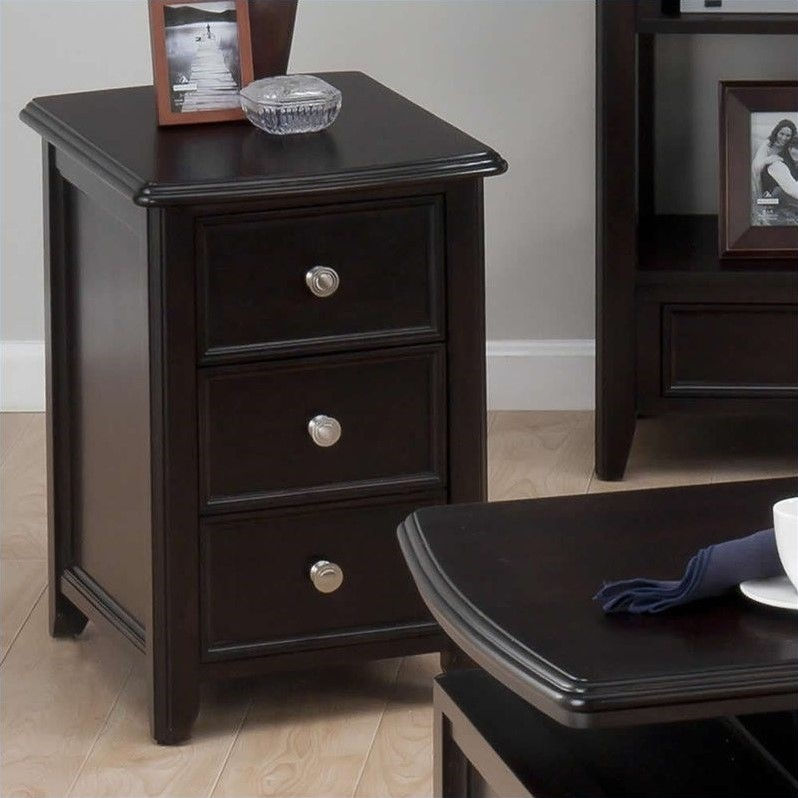 Jofran Chairside Table in Joes Espresso Finish