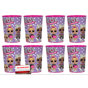 L.O.L. Surprise LOL 16 oz Plastic Favor Cups 8 Pack