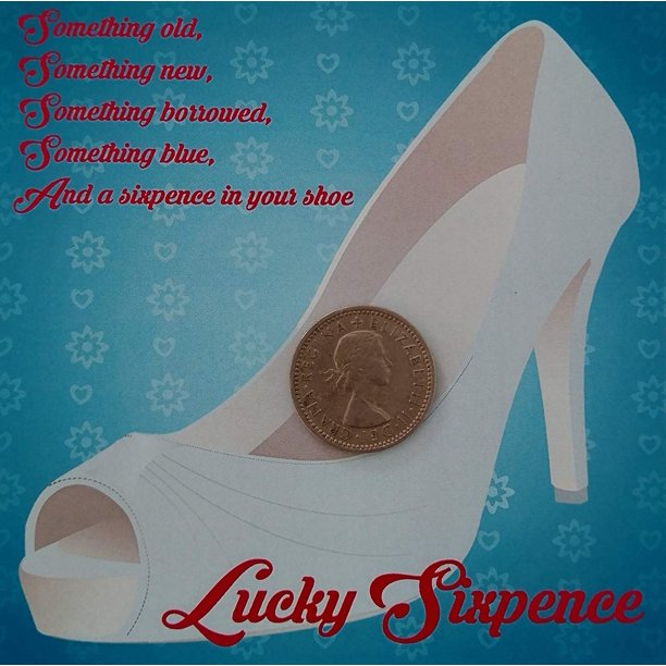 Lucky Sixpence for Bridal Shoe Silver