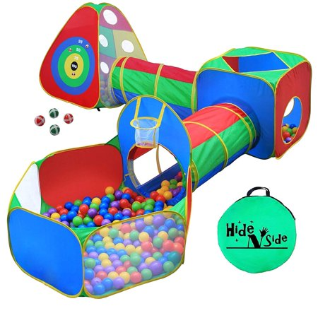 5pc Kids Ball Pit Tents And Tunnels Toddler Jungle Gym