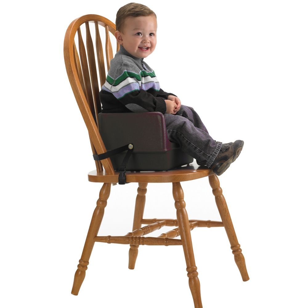Cambro 100BCS131 Dark Brown Booster Seat with Safety Strap by Cambro