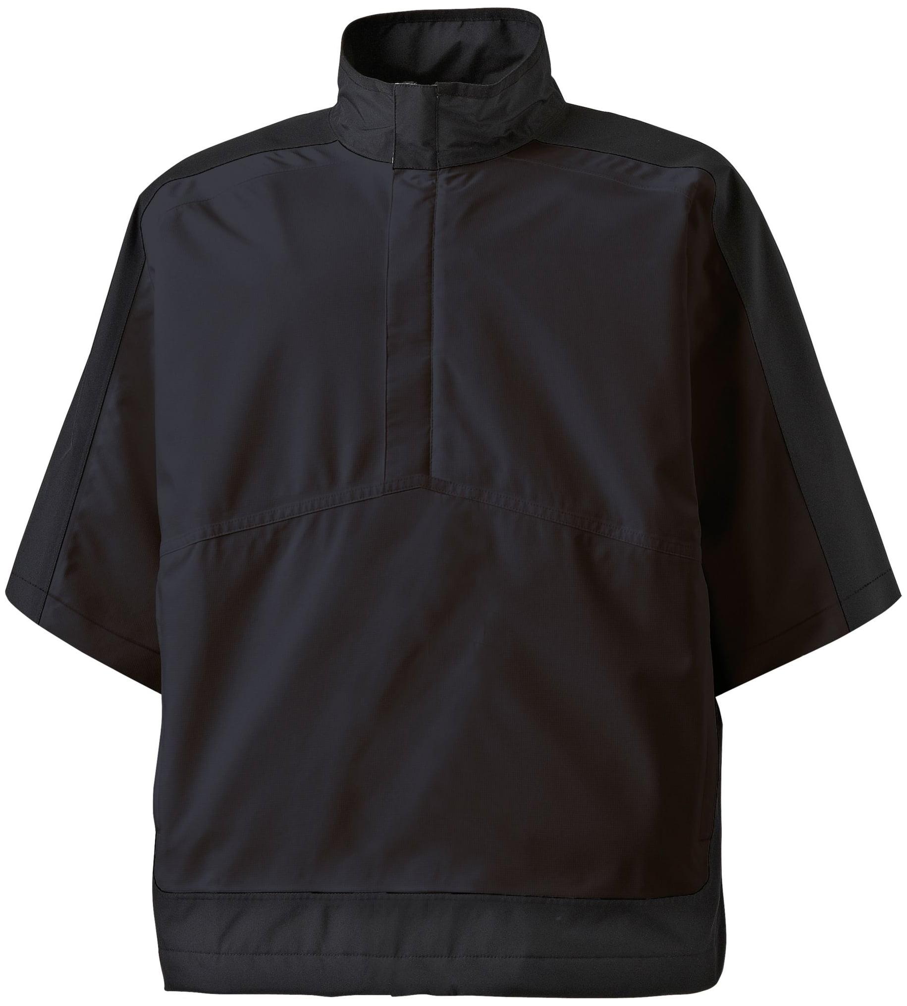 FootJoy Men's HydroLite Short Sleeve Golf Rain Shirt (Bla...