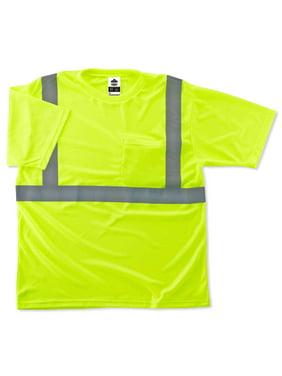 Ergodyne GloWear 8289 Type R Class 2 T-Shirt, Lime, XS
