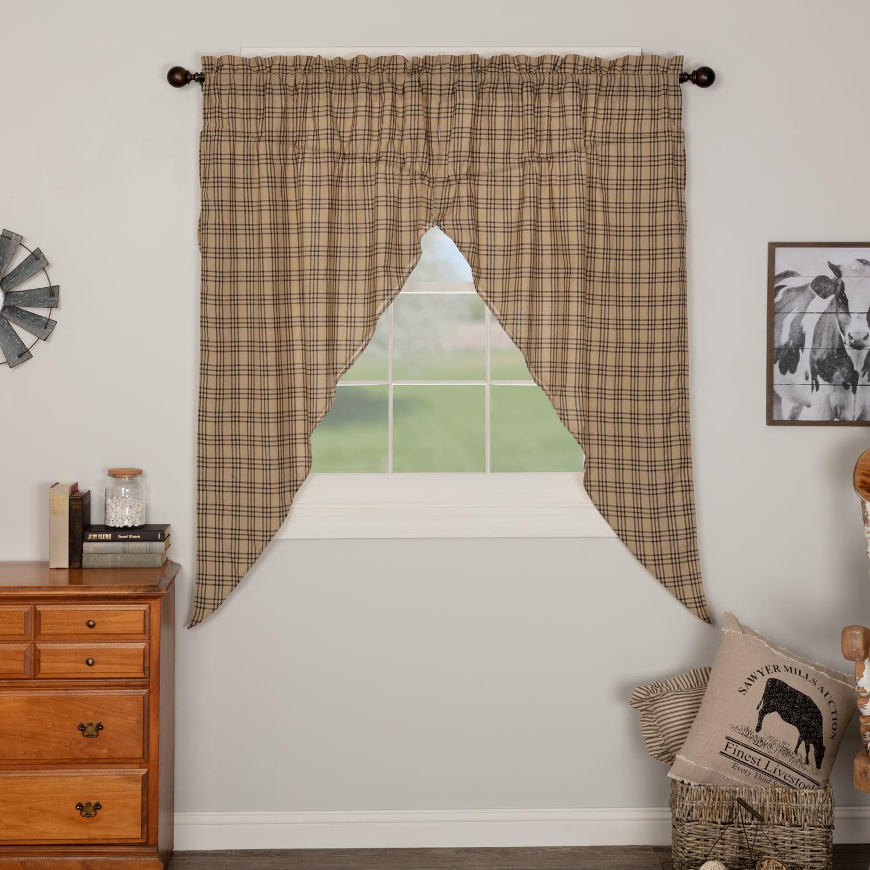 Tan Farmhouse Bath Miller Farm Poultry Shower Curtain Rod Pocket Cotton