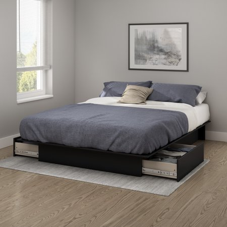 South Shore Soho Full Queen Storage Platform Bed With 2