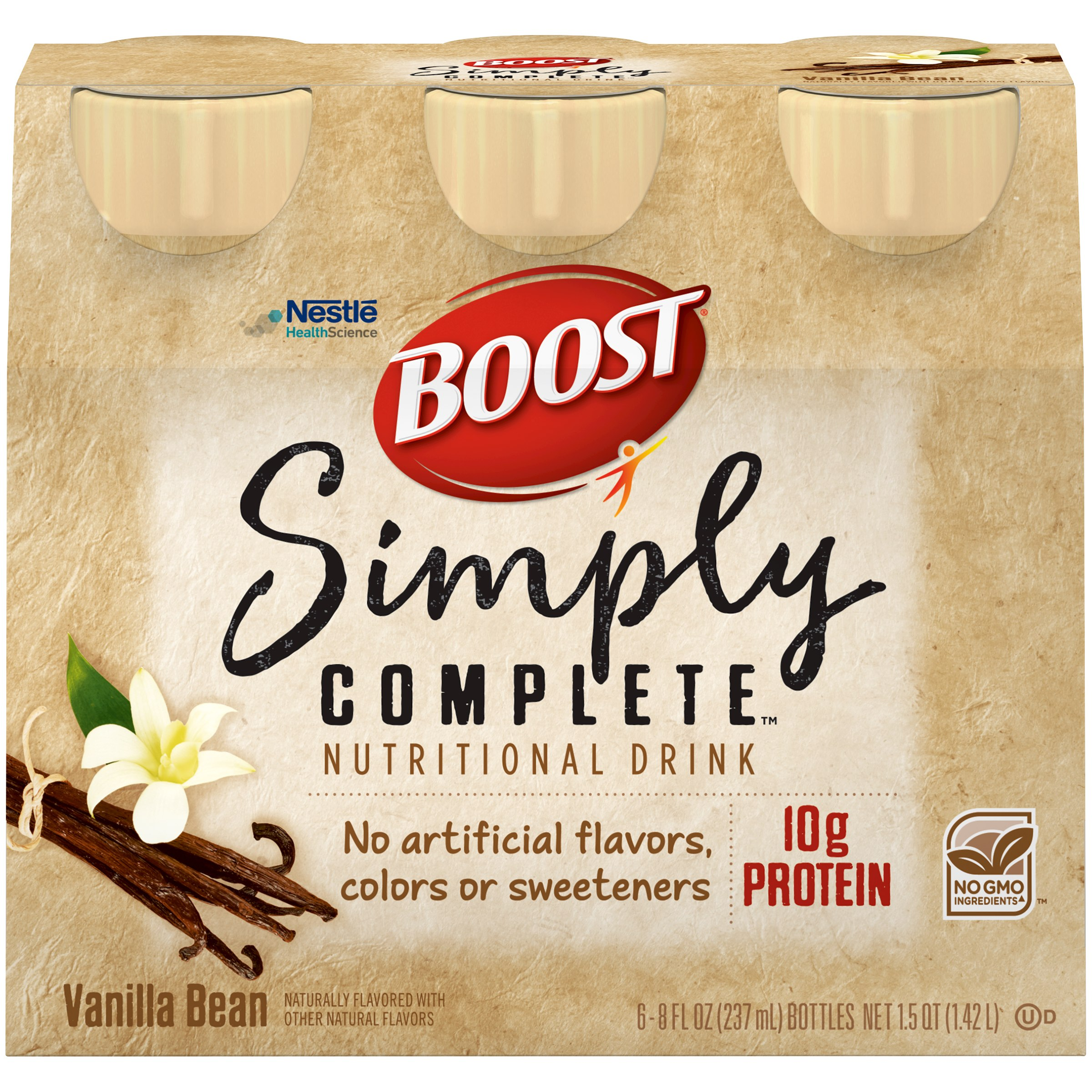 BOOST SIMPLY COMPLETE Vanilla Bean 6-8 fl. oz. Bottles