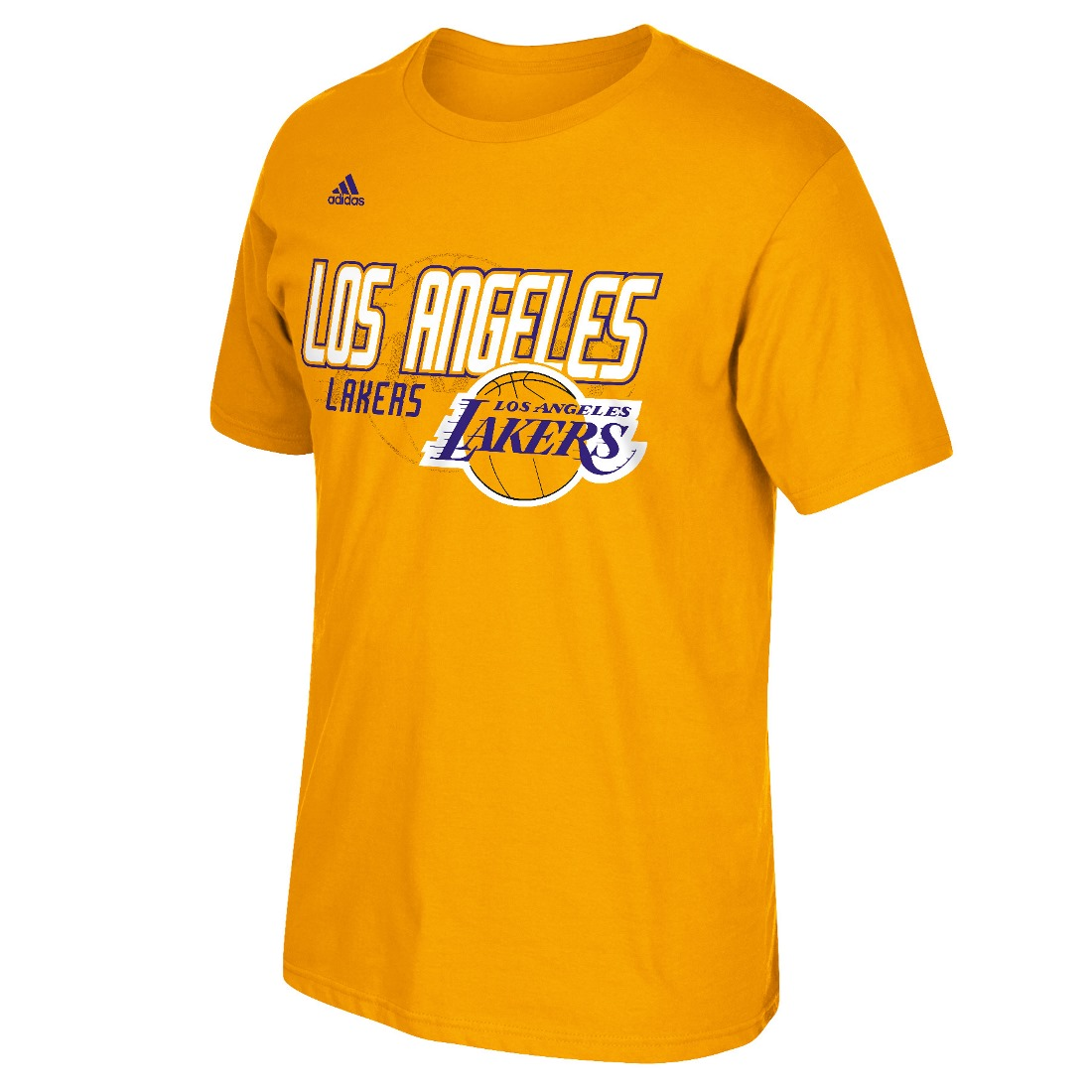 "Los Angeles Lakers Adidas NBA ""Distressed Back Logo"" Men's Short Sleeve T-Shirt"