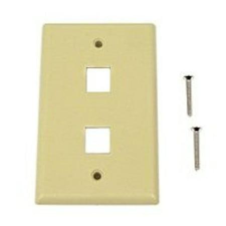 Belkin Keystone Faceplate (Belkin F4E440 2-Position Keystone Plastic Faceplate - Ivory )