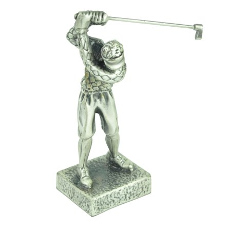 Male Golfer Statue Swing  Statue Cast Metal Pewter Paperweight Décor Glory Land