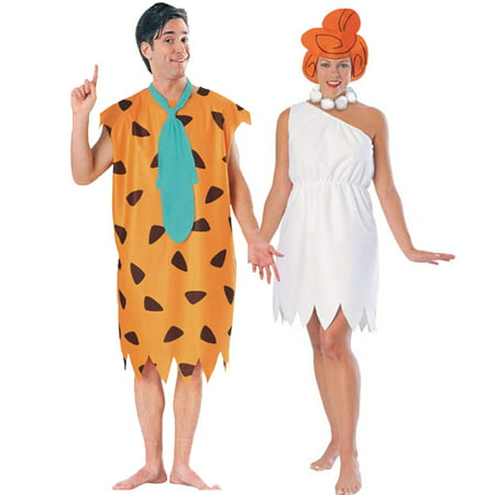 Fred and Wilma Flintstone Costume Set - - Adult Wilma Flintstone Costume
