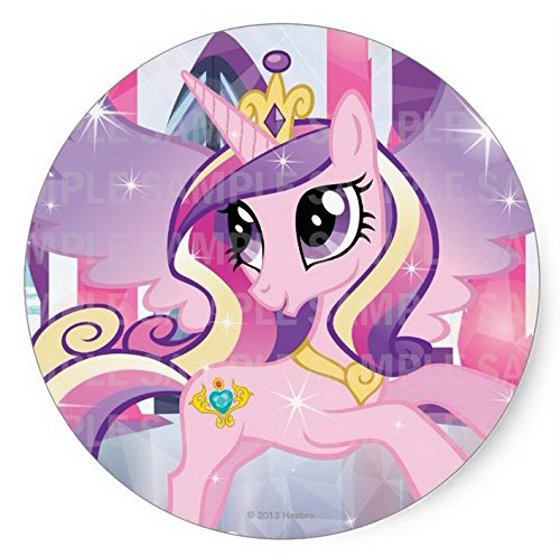 My Little Pony Princess Cadence Birthday Edible Image Photo 8 Round Cake Topper Sheet Personalized Custom Customized Party