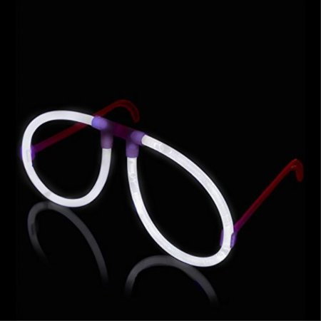 50 Aviator Lumistick Glow Eyeglasses - White - Glow Eyeglasses