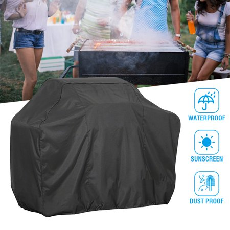 Barbecue Gas Grill Cover, Waterproof BBQ Cover, Anti-Tearing, Windproof, Dust-Proof UV-Resistant, Anti-Fading and Suitable for Most Barbecue (Best Grill Covers 2019)