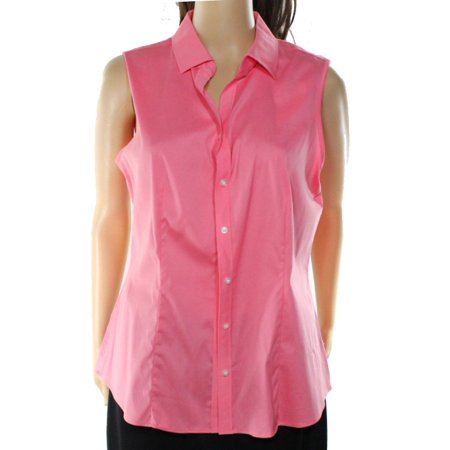 Charter Club New Strawberry Pink Womens Size 10 Button