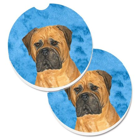 Pink Bullmastiff Set of 2 Cup Holder Car Coaster - image 1 de 1