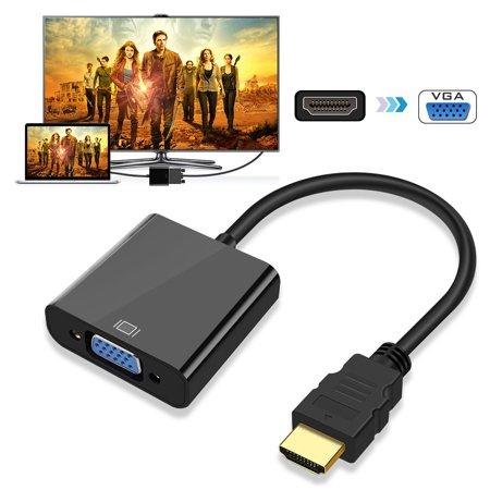 HDMI to VGA, EEEkit Gold-Plated HDMI Male to VGA Female Video Cable 1080P Video Converter for PC, Laptop, Desktop,other HDMI Input Devices