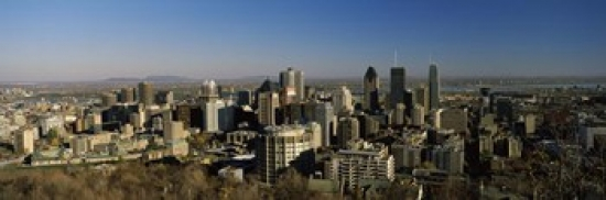 Aerial view of skyscrapers in a city from Chalet du Mont-Royal Mt Royal Kondiaronk Belvedere Montreal Quebec Canada... by Panoramic Images