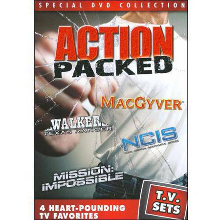 Tv Sets  Action Packed   Macgyver   Walker  Texas Ranger   Ncis   Mission  Impossible