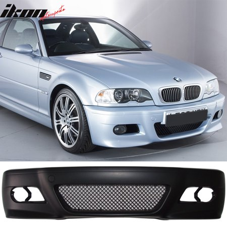 Compatible with 99-06 BMW 3 Series E46 2D Coupe M3 Style Front Bumper Cover Bodykit Black 3 Series 2d Coupe