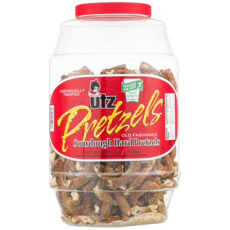 Utz Pretzels Sourdough Hard Pretzels 64 oz. (1 Barrel)
