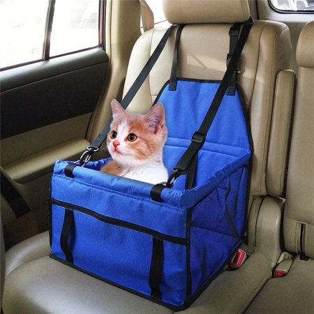 Fosa Collapsible Pet Car Kit, Dog Cat Pet Puppy Safety Car Seat Cove Travel Bag Mat Cage Carrier Blue, Anti Pollution (Pollution Kit)