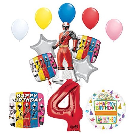 The Ultimate Power Rangers Ninja Steel 4th Birthday Party Supplies - Birthday Supplies Websites