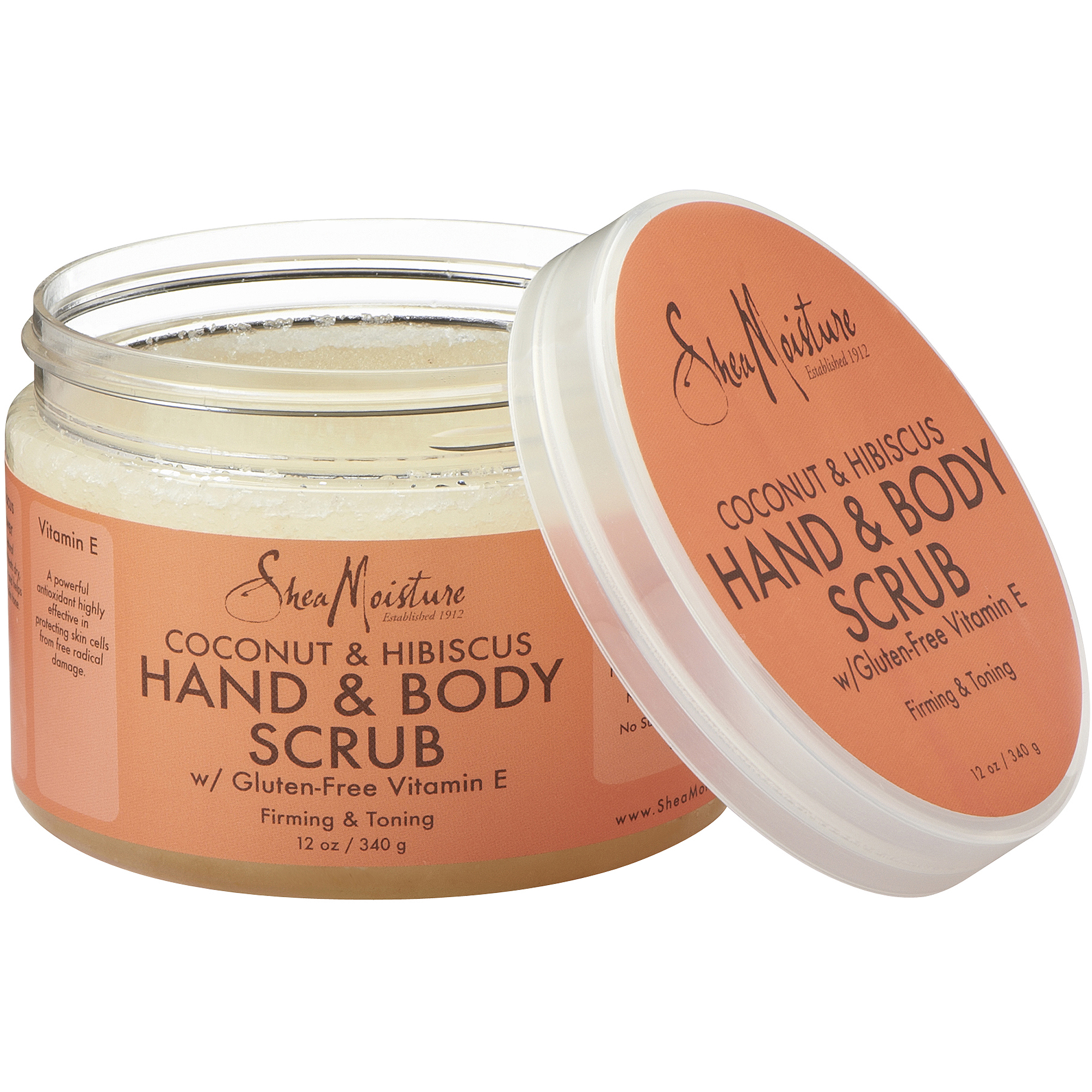 SheaMoisture Coconut & Hibiscus Hand & Body Scrub, 12 oz