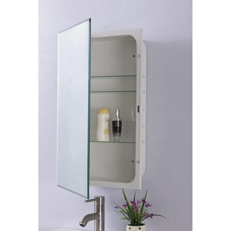 Bellaterra Home Beveled Edge Mirrored Medicine Cabinet