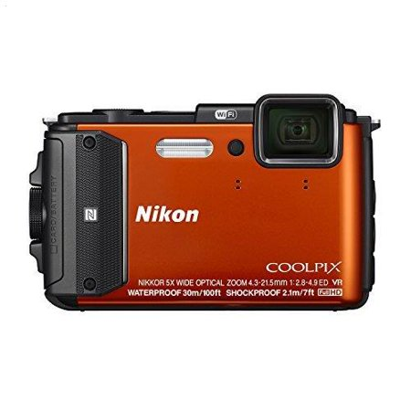 Nikon - Coolpix AW130 16.0-Megapixel Waterproof Digital Camera -
