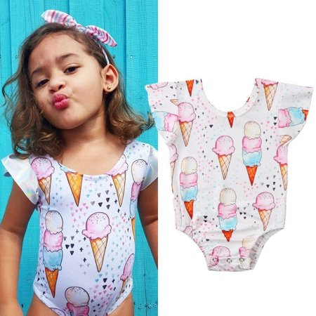 85697ea3a4f Newborn Kid Baby Girls Ice Cream Romper Bodysuit Jumpsuit Outfit Sunsuit  Clothes Baby Kids Gifts - Walmart.com