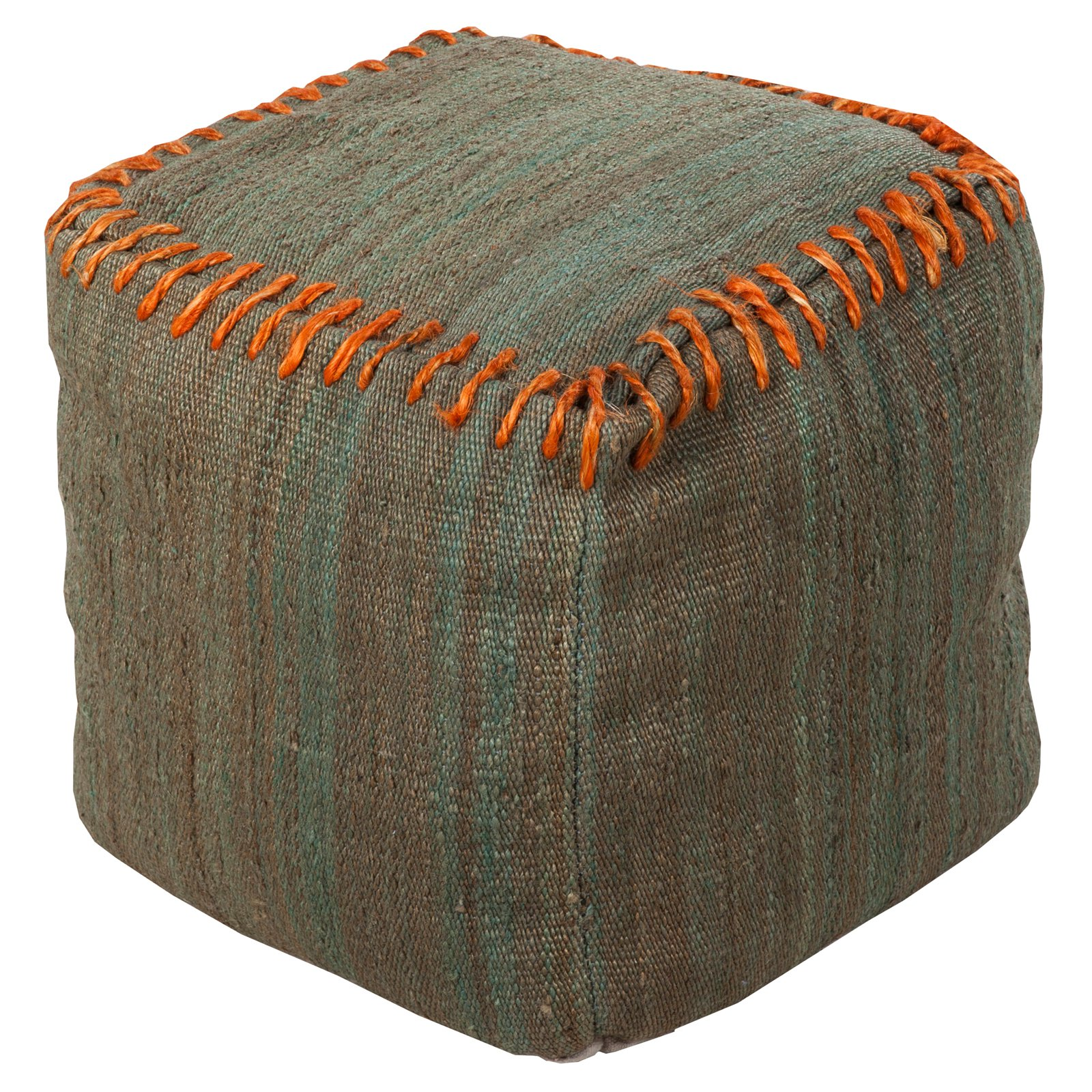 Surya 18 in. Cube Jute Pouf by Surya