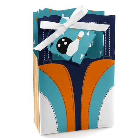 Strike Up the Fun - Bowling - Birthday Party or Baby Shower Favor Boxes - Set of 12](Bowling Party Decor)