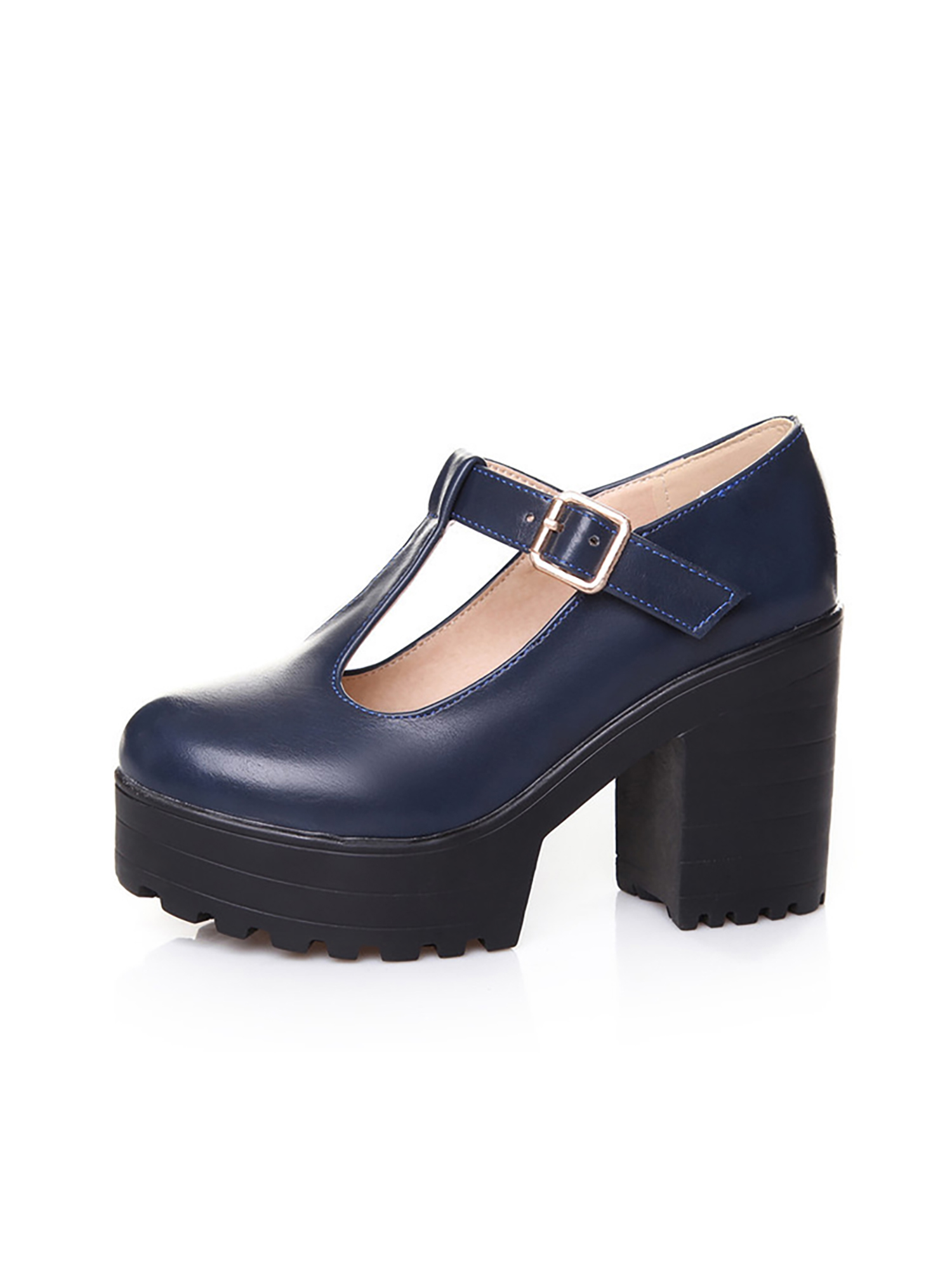 Details about  /Women/'s Retro Buckle Stud Block Heel Round Toe Red Wedding Bridal Ankle Boots L