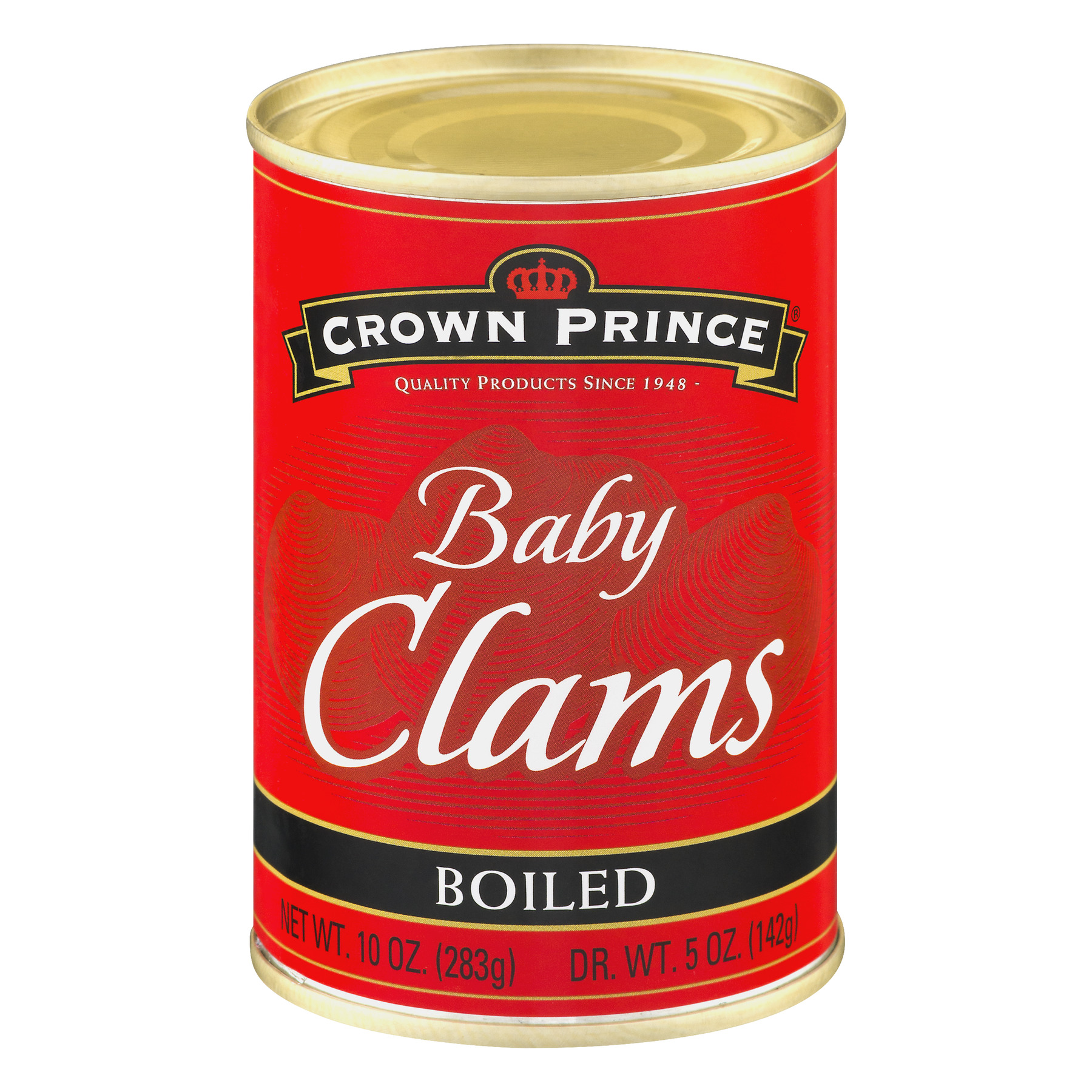 Crown Prince Boiled Baby Clams, 10 oz Can