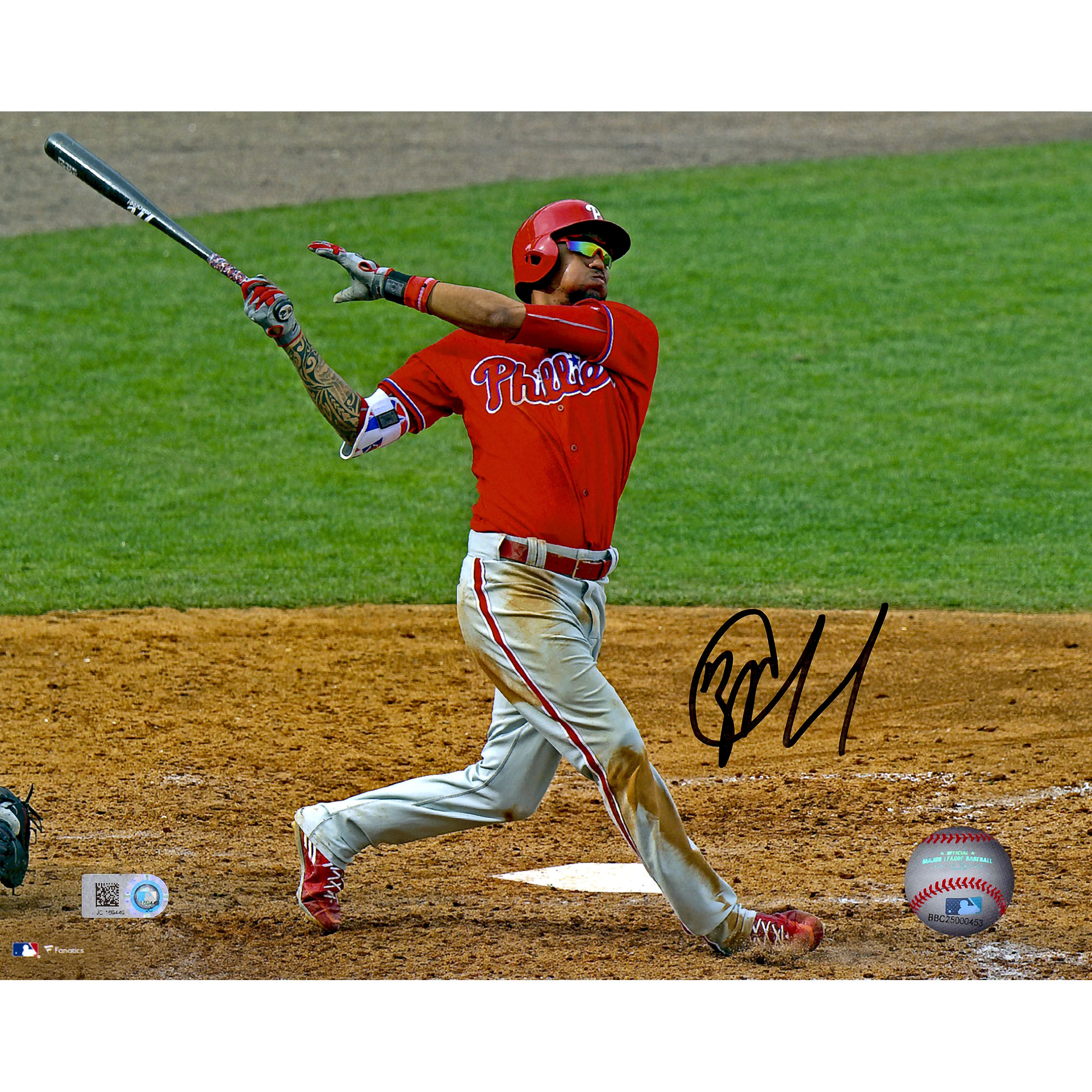 "JP Crawford Philadelphia Phillies Fanatics Authentic Autographed 8"" x 10"" Hitting Photograph - No Size"