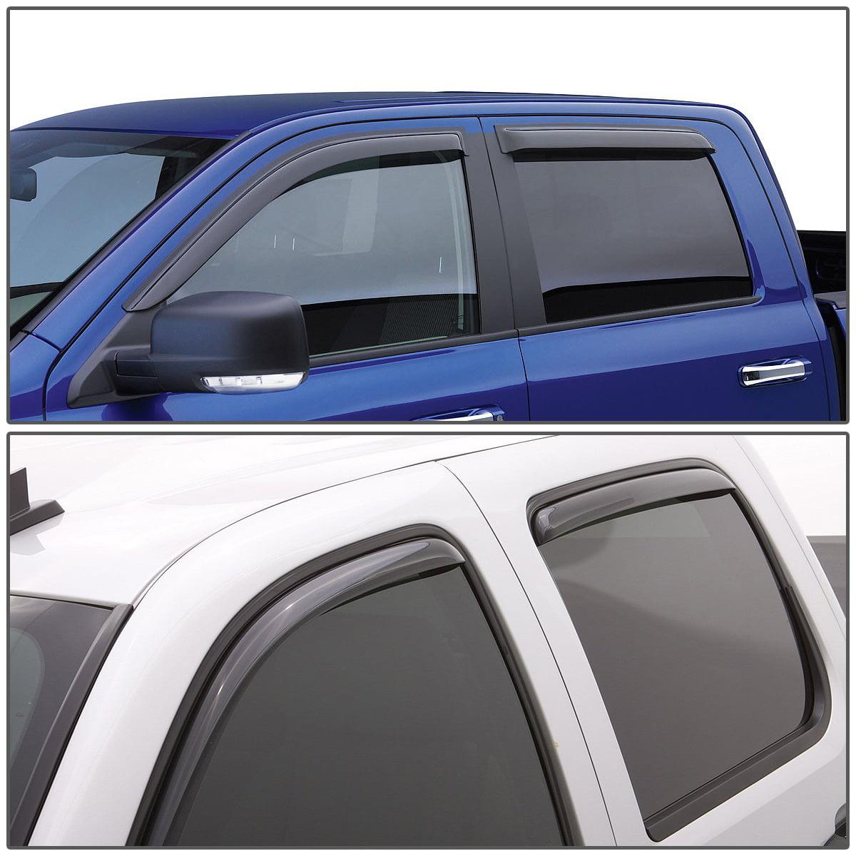 MGPRO 4pcs For 2004-2012 Colorado Crew Cab /& 2004-2012 GMC Canyon Crew Cab In-Channel Sun Rain Guard Vent Shade Side Window Wind Deflectors Window Visors