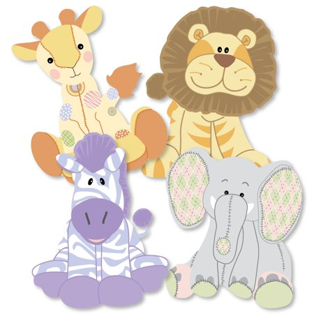 Zoo Crew - Giraffe, Elephant, Zebra and Lion Decorations DIY Baby Shower or Birthday Party Essentials - Set of 20