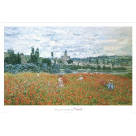 Field of Poppies by Claude Monet 36x24 Art Print Poster Museum Masterpiece Famous Painting