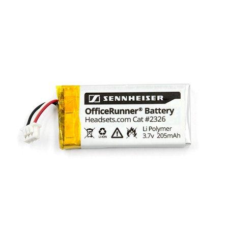 Sennheiser Replacement Rechargeable Battery for OfficeRunner Wireless Headset DW Office DW Pro1 DW Pro2 SD Office SD Pro1 SD Pro2 MB Pro series Li Polymer 205mAh (1 (Polymer Li Ion Module)