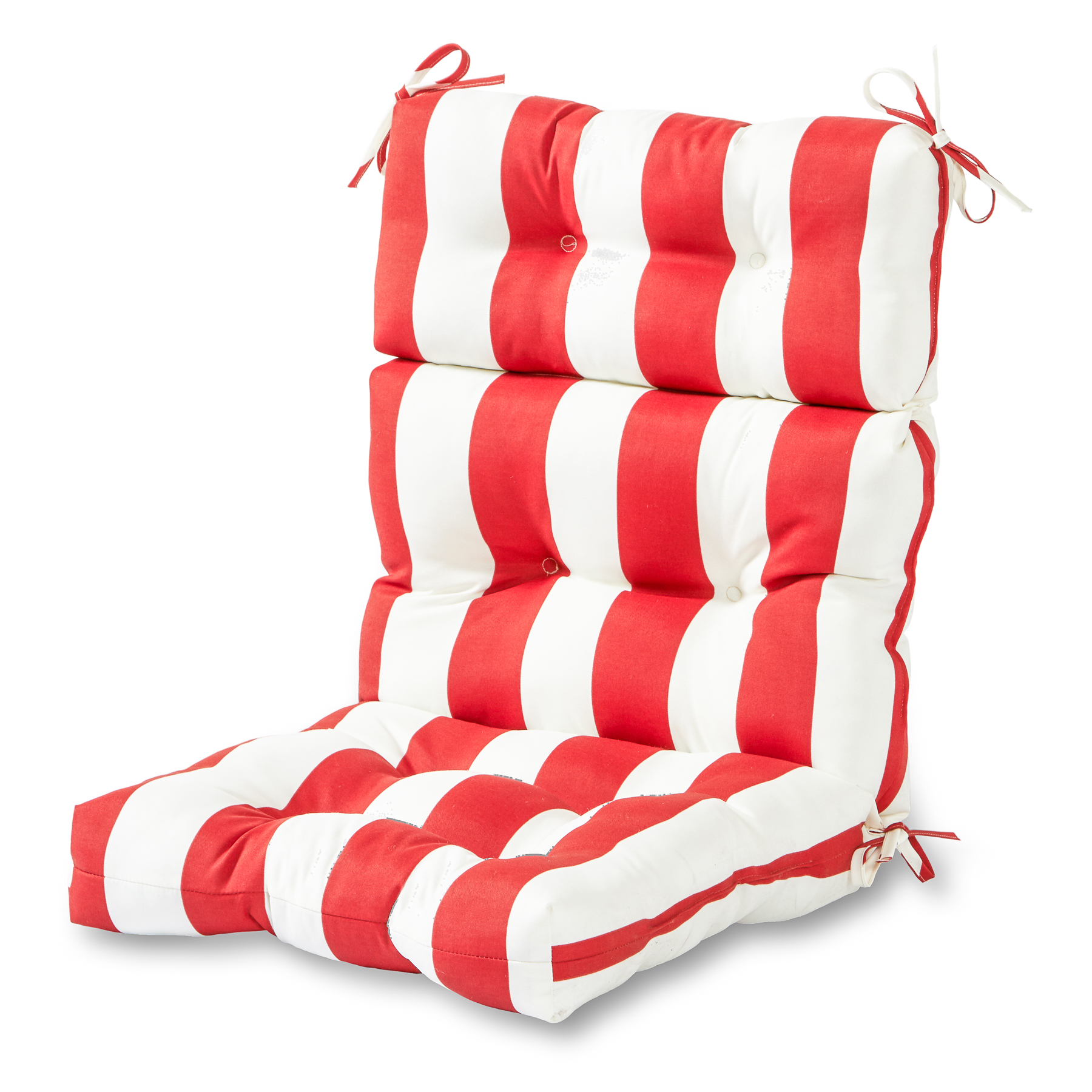 Greendale Home Fashions Cabana Stripe Outdoor High Back Chair Cushion