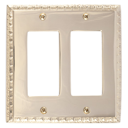 BRASS Accents Egg and Dart Double GFCI Plate